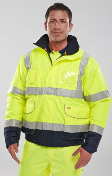 Be Seen Constructor Bomber Jacket Two-Tone
